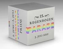 Logo der Regenbogenparade 2010