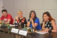 Pressekonferenz zu Vienna Pride: Christian Högl (HOSI Wien), StR. Sandra Frauenberger, Vizebg. Maria Vassilakou, Ewa Dziedzic (Foto: PID/Kromus)