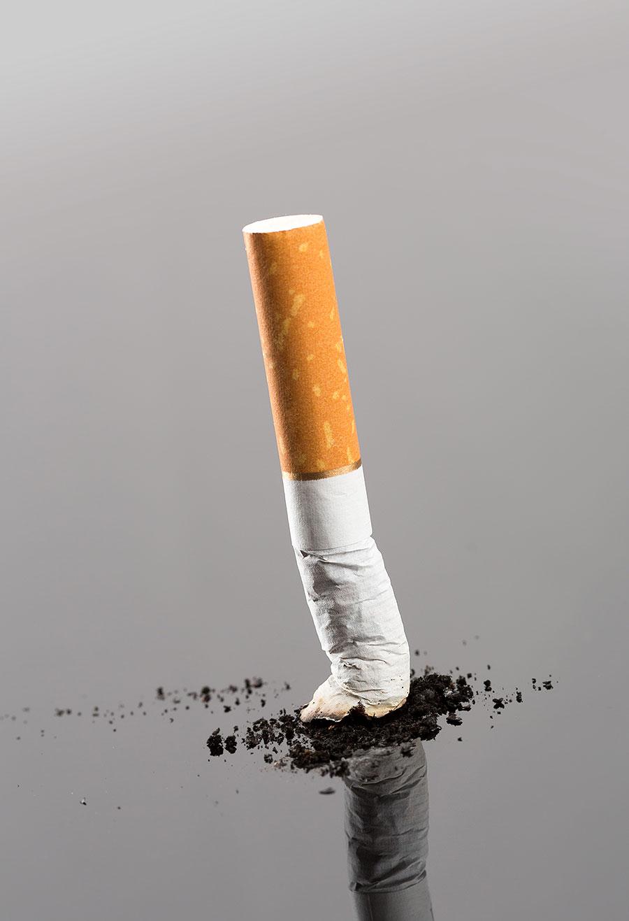 Ausgedämpfte Zigarette
