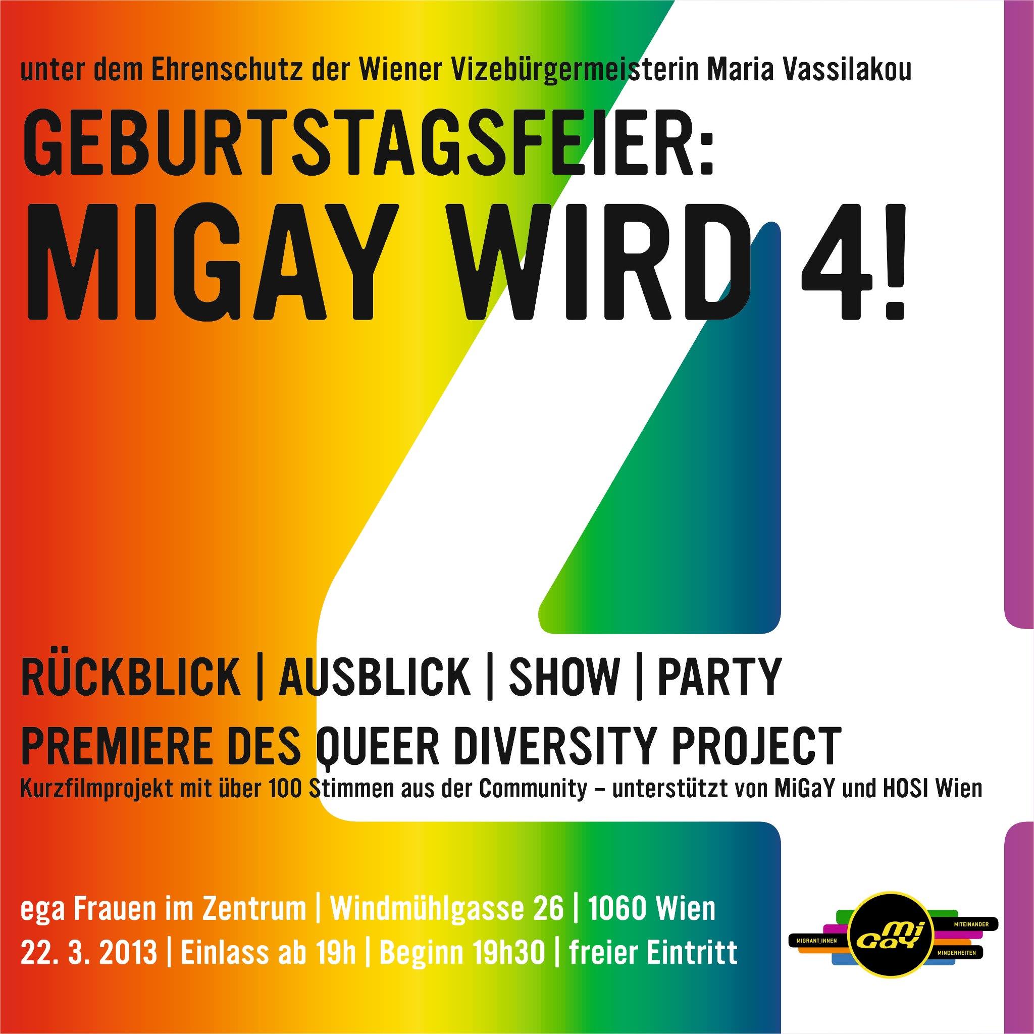 Queer Diversity Project - MiGaY-Feier